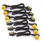 Power Cord Kit (6 Ea)/ Locking/ C19 To C20 (90 Degree) - 0.6m