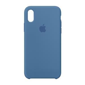 iPhone X Silicone Case - Denim Blue