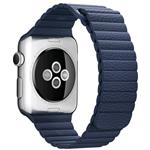 42mm Midnight Blue Leather Loop - Large