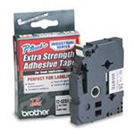 Tape 12mm Black On White Strong Adhesive (tzs231)
