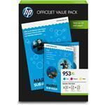 Office Value Pack 953XL - 3 ink cartridges (cyan/magenta/yellow) + Paper
