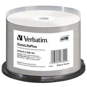DVD-r 16x Datalifeplus Wide Inkjet Professional Spindle 50pk