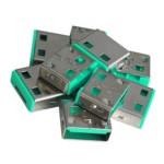 USB Port Blocker 10pack Green (without Key)
