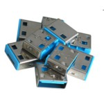USB Port Blocker 10pack Blue (without Key)