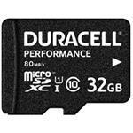Duracell - Flash memory card (microSDHC to SD adapter included) - 32 GB - UHS-I U1 / Class10 - micro (DRMSD32PE)